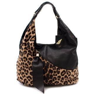 Diane Von Furstenberg Leopard Calf Hair & Leather Tote Bag