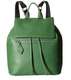 Vivienne Westwood green leather rucksack