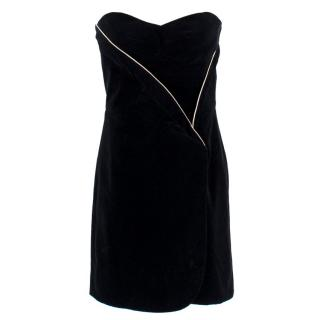 Jill Stuart Black Strapless Mini Dress