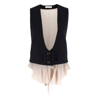 Chloe Silk & Wool Sleeveless Vest