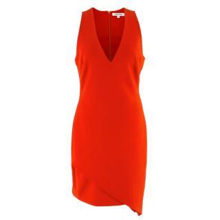 Elizabeth and James Red Asymmetric Sheath Midi Dress