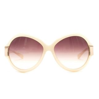 Oliver Peoples West Cream Oversized Sunglasses