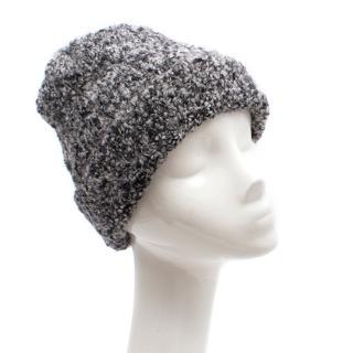 Dolce & Gabbana Grey Knit Wool Beanie Hat