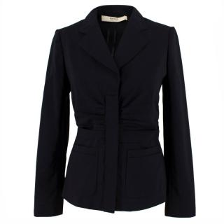 Prada Gathered Front Fitted Blazer