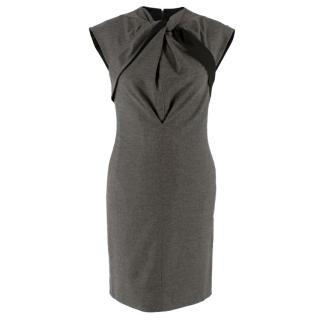 Gucci Grey Wool Tailored Dress