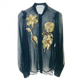 Yves Saint Laurent Sheer Silk Blouse