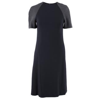 Eudon Choi Navy and Grey Dress