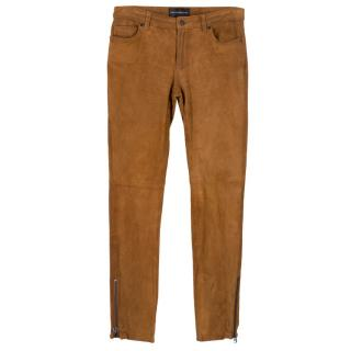 Zadig & Voltaire Brown Suede Trousers