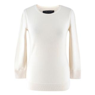 Rag & Bone Cream Wool Knit Jumper