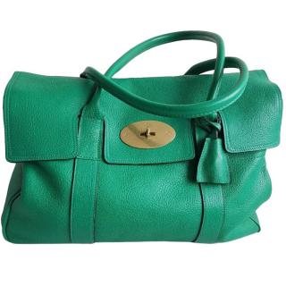 Mulberry Emerald Green Bayswater Tote Bag