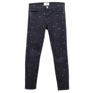 Current Elliot Dark Wash Star Printed Jeans