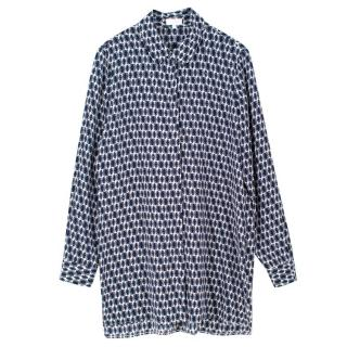 Escada Sport Silk Diamond Print Shirt Dress