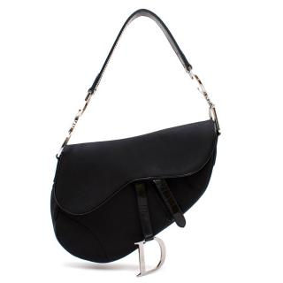 Christian Dior Black Mini Saddle Bag