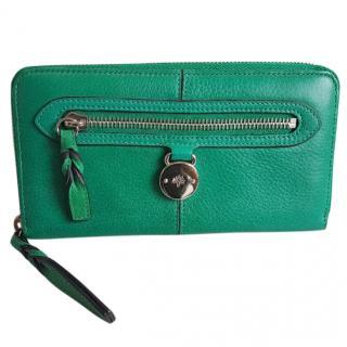 Mulberry Green Zippy Wallet
