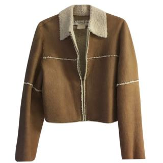 Christian Dior Cropped Shearling Jacket
