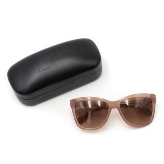 Diane Von Furstenberg Nude Neri Sunglasses