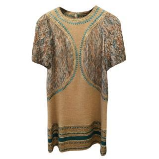 Missoni Embroidered Knit Mini Dress
