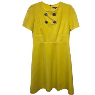 Tara Jarmon Yellow A-line Mini Dress
