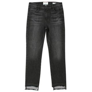 Frame Le High Straight Leg Raw Hem Jeans