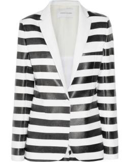 Jonathan Saunders Black & White Striped Jacket