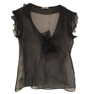 Emporio Armani Sheer Black Top