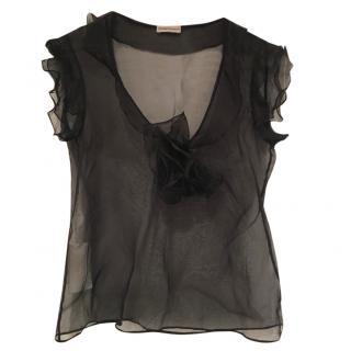 Emporio Armani Sheer Black Top