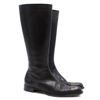 Jil Sander Black Leather Boots