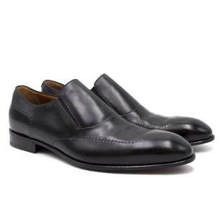 Avi Rossini Black Leather Loafers