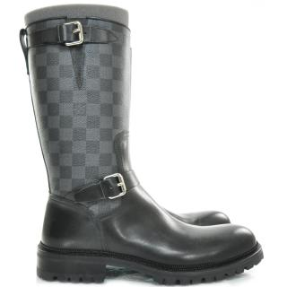 Louis Vuitton 'Edgy' Damier Biker Boots