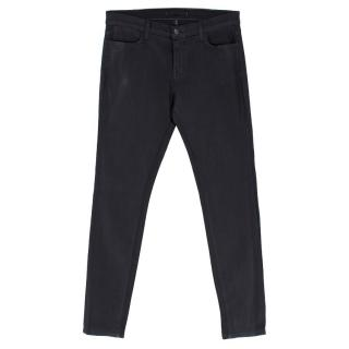 J Brand Coated Black Skinny Jeans