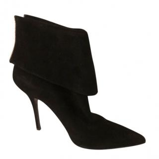 Dior Suede Foldover Ankle Boots