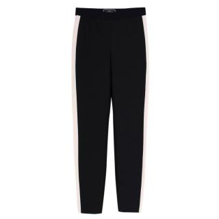 Malene Birger High Waist Contrast Side Stripe Trousers