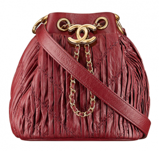 Chanel Cruise 18' Coco Pleats Drawstring Bag