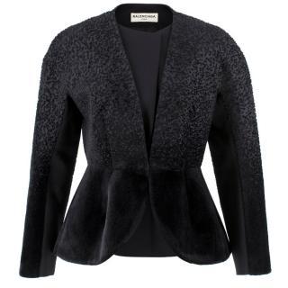 Balenciaga Black Tailored Textured Jacket
