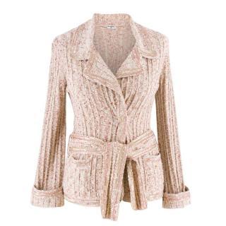 Chanel Cream & Pink Tweed Cardigan