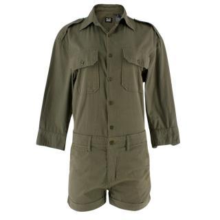 NLST Army Khaki Playsuit
