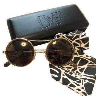 Diane Von Furstenberg round sunglasses