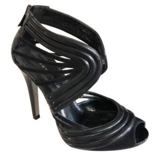 Lara Bohinc Black Leather & Suede Lunar Heel Shoes