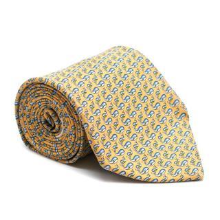 Salvatore Ferragamo Silk Whale Printed Tie