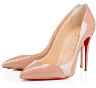 Christian Louboutin Pigalle Follies Patent Nude 100 Pumps