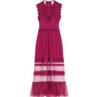 Three Floor 'Zen' Plum Maxi Lace Dress