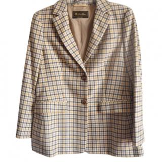 Loro Piana plaid cashmere blazer