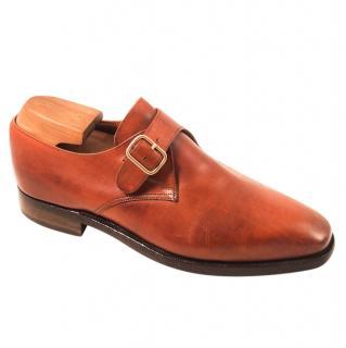 Crockett & Jones Men's Brown Monk Shoes