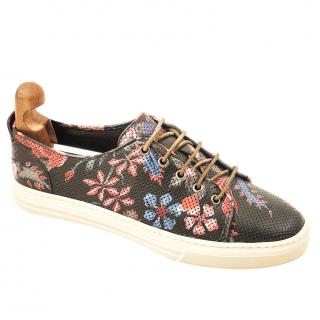 Gucci perforated floral print sneakers