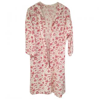 Marni floral cotton trench coat