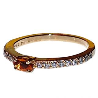 Vianna Brasil Citrine & Diamond Ring 18ct Gold
