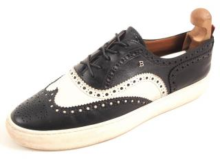 Bally men's black and white brogues