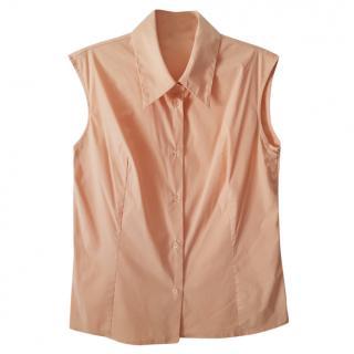 Piazza Sempione Sleveless popplin shirt