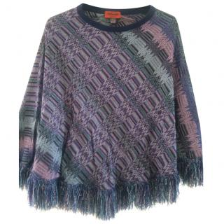 Missoni Metallic Fringed Poncho