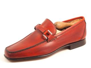 Fratelli Rossetti Red Leather Loafers